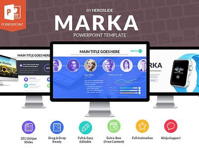 Marka, Business Powerpoint Template marka powerpoint template presentation free powerpoint template slide ppt pptx creativemarket powerpoint meemslide