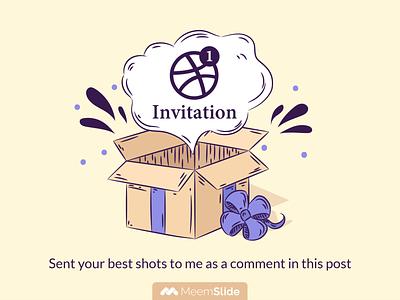 1 Dribbble Invite meemslide dribbble invite invite