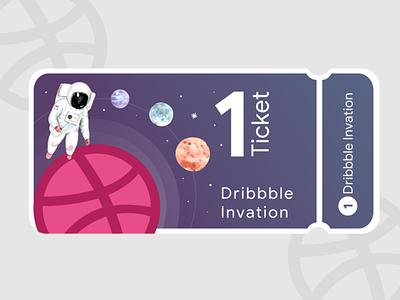 1 Dribbble Invitaion Ticket design meemslide dribbble ticket invite