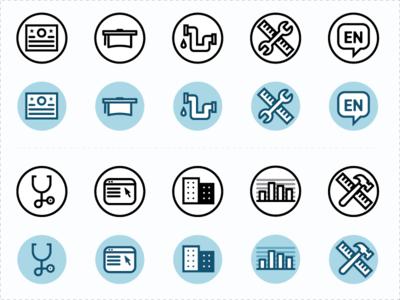 Career/Partner Icon Explorations