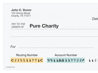 Pure Charity - Check