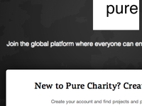 Pure Charity (Signup Page)