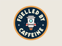 Fuelled By Caffeine Sticker