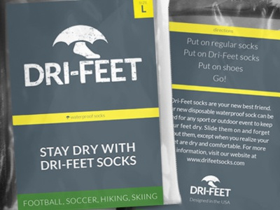 Dri-Feet Socks Packaging packaging