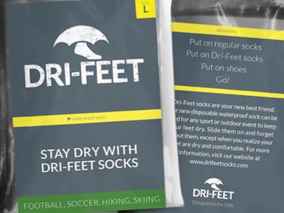 Dri-Feet Socks Packaging packaging