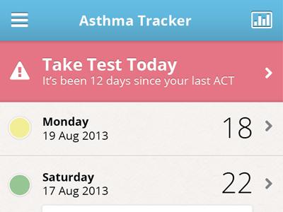 Asthma App Main mobile app asthma tracker