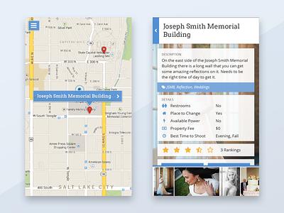 Shootipedia Mobile App photography design app mobile