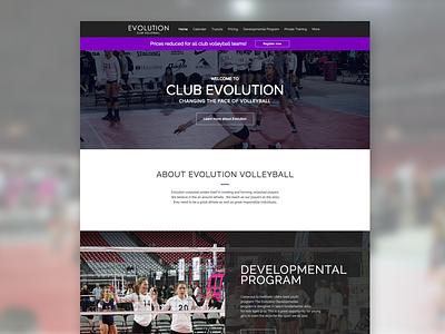 Evolution Volleyball Website design website