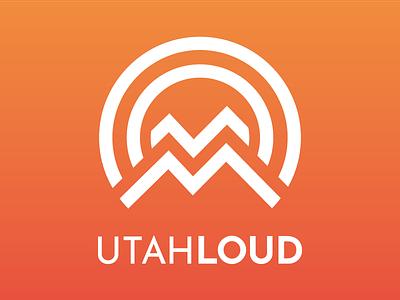 Utah Loud Logo loud mountains utah