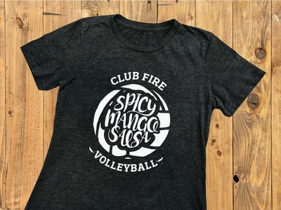 Club Fire Volleyball T-shirt lettering volleyball shirt t-shirt