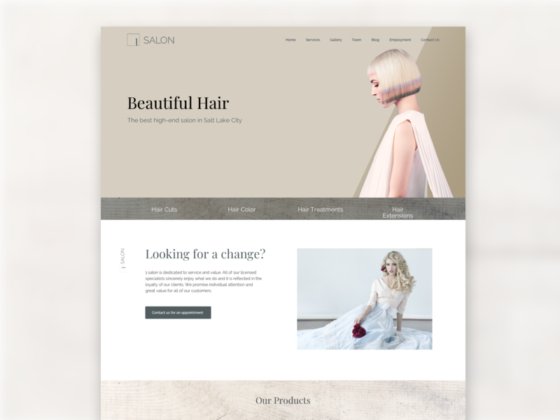 1 Salon utah website design salon