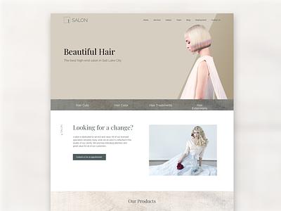 1 Salon utah website design salon