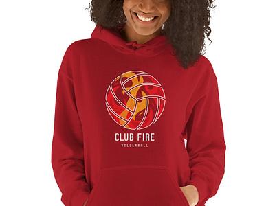 Club Fire Volleyball Hoodie logo utah club fire volleyball hoodie t-shirt
