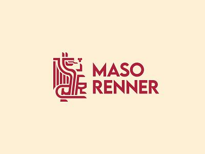 Maso Renner Logo graphic designer logo designer vineyards dragon logo dragon wine logo wine branding brand identity logo design logo illustration branding design adobe illustrator minimal illustrator graphic design
