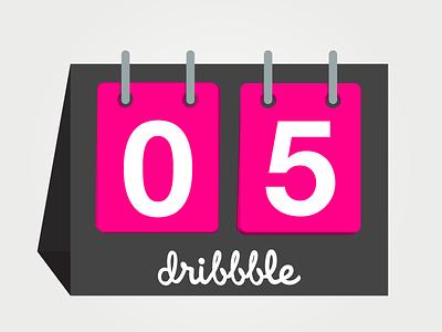Dribbble Turns 5 dribbble scoreboard