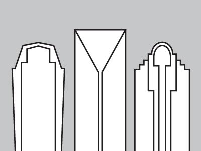CLT charlotte city skyline line