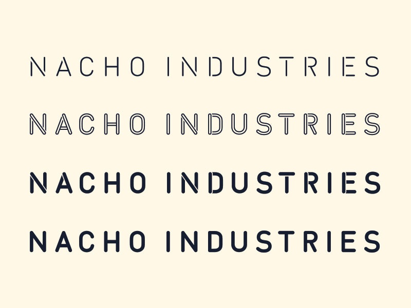 Nacho Type type typography font lettering layered stencil