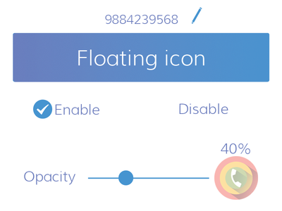 Settings icon floating disable enable opacity priority call settings app mobile