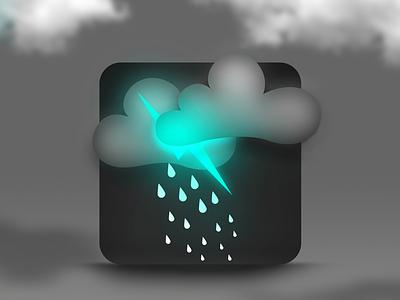 Weather Icon grey bolt rain cloud black icon weather