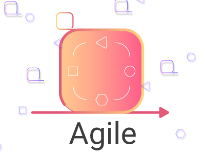 Agile colors methodology method shapes ux ui mobile web agile