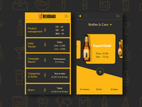 Bottles & Cans password button grey black beer app yellow ui ux sign in sign up clean
