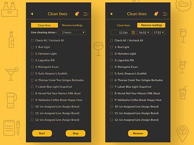 Beerboard - Clean lines forgot password forgot password button grey black beer app yellow ui ux clean