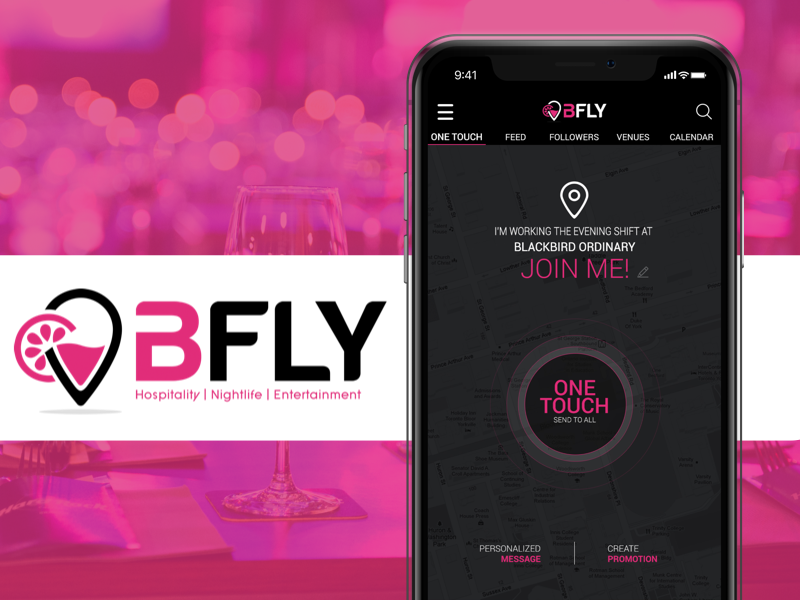 BFLY- Move the Crowd singup login mobile app iphone media design icoderz android ios social ux