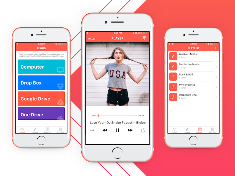 Cloud Music Player Offline by Pritesh Sudra on Dribbble