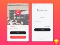 Connec Bit- Login Page design