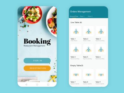 Restaurant Management System Ui Design.