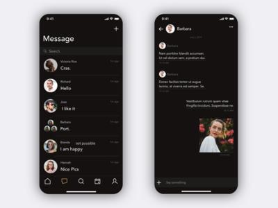 Dark Chat Ui Design