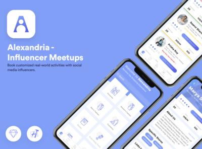 Influencer Meetups Ui design