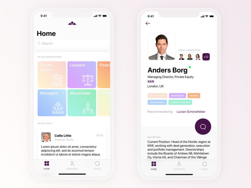 Networking app concept