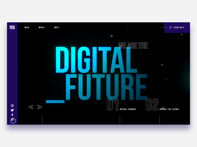 Digital Future interaction futurism typography c4d abstract graphic design ui color design 3d