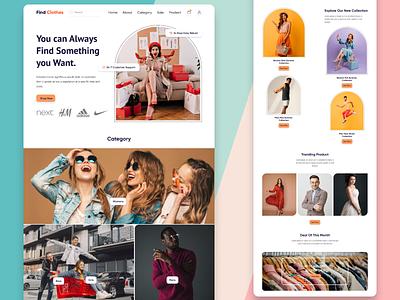 E-Commerce Landing Page UI onlineshope e-commerce ecommerce webpage landingpage uidesign branding ui