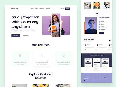 E-Learning Landing Page redesign webdesign website onlinecourse educaion e-learning landingpage redesign design uiux ui