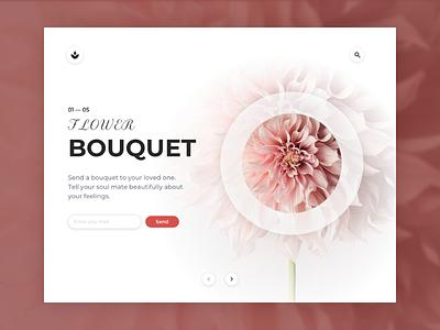 Flower Bouquet > Main slide of the Landing Page logo branding graphic design ui