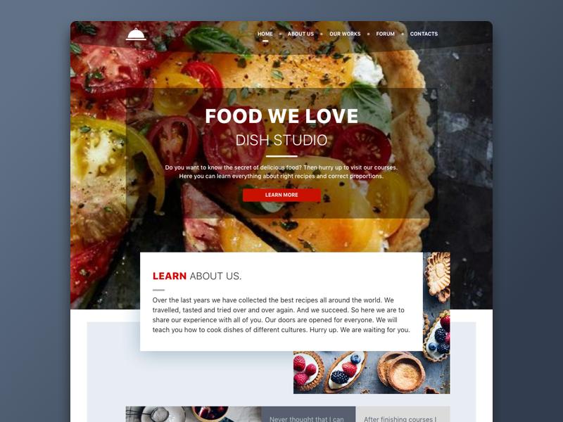 Food we love e-commerce meal product recipe cook dark landing ui food web
