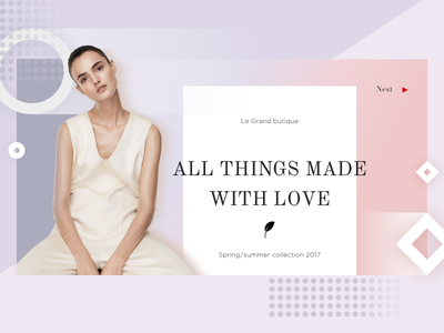 In fashion - in love geometric shop light ecommerce cover pastel flat style ui lookbook web fashion