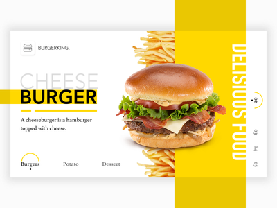 Redesign of the Food Landing page ui Design freelance design freelance creative sketch 3 web eat redesign typography geometric food design e-commerce cook card light flat ui