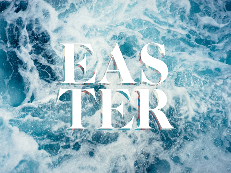 Easter is coming type design typography type brand identity easter design easter branding church branding church logo church design church easter