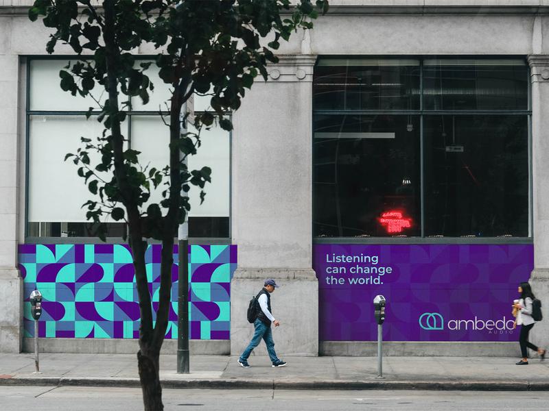 Ambedo Audio marketing signage pattern design illustration logo designer logo identity brand branding brand identity logo design logo