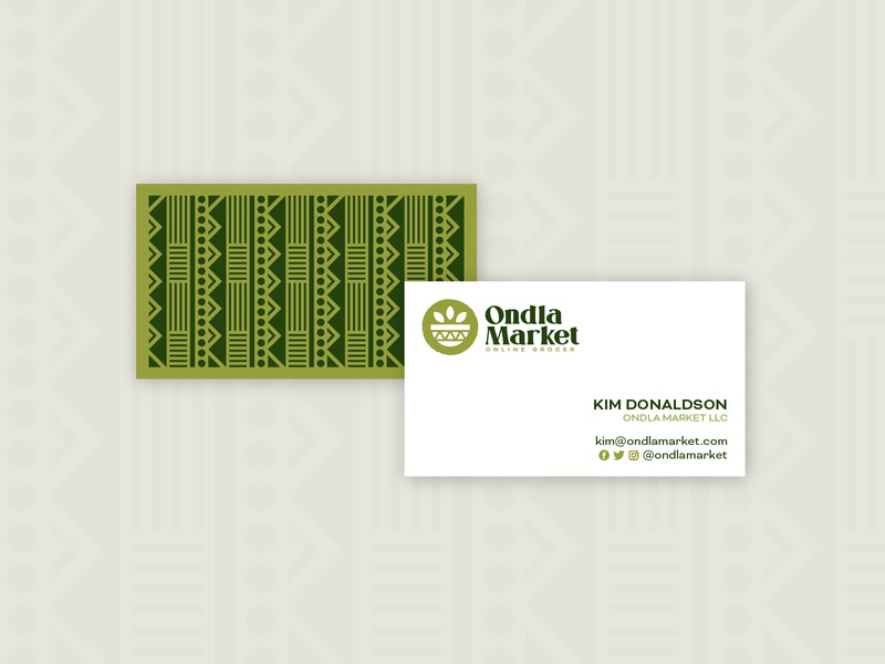 Ondla Card Concept brand stationery business card vector art design illustration logo identity brand branding brand identity logo design logo