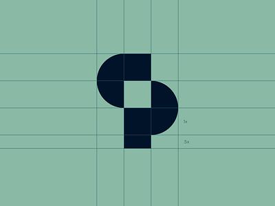 CP Grid monogram logo breakdown logo grid logo designer logo identity brand branding brand identity logo design logo