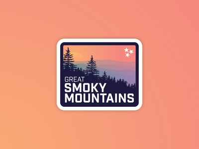 Great Smoky Mountains smoky park sticker gradient nature mountains badge