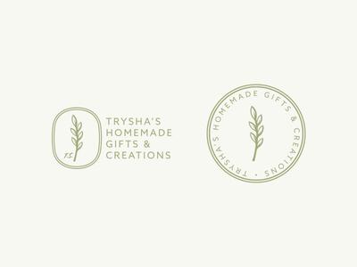 Trysha's Alternates homemade creations gifts goods logos boutique brand identity branding logo design logo