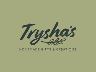 Trysha's Full Lockup homemade creations gifts goods logos boutique brand identity branding logo design logo