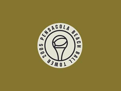 PCOLA Badge beach logo pensacola badge design badge logo designer simple illustration logo design logo