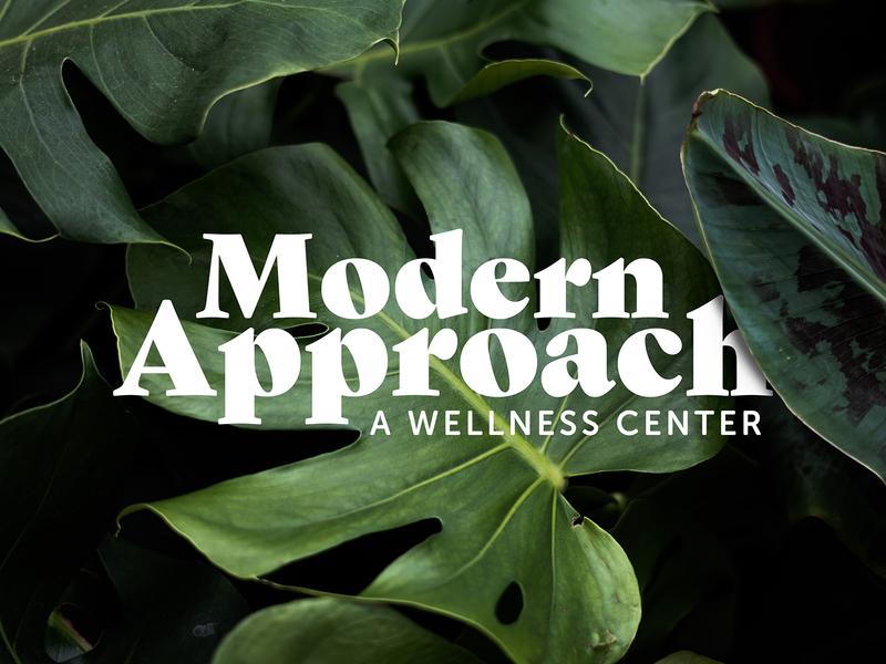 Modern Approach healthy health modern wellness simple logo designer typography logo identity brand branding brand identity logo design logo