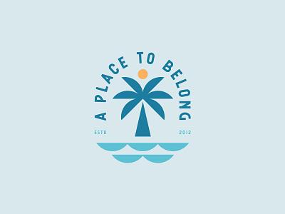 A Place To Belong palm logo palm tree palm beach logo designer logo identity brand branding brand identity logo design logo
